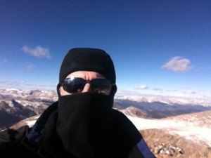 Self portrait from the summit.